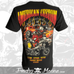 T-Shirt Black American Custom back
