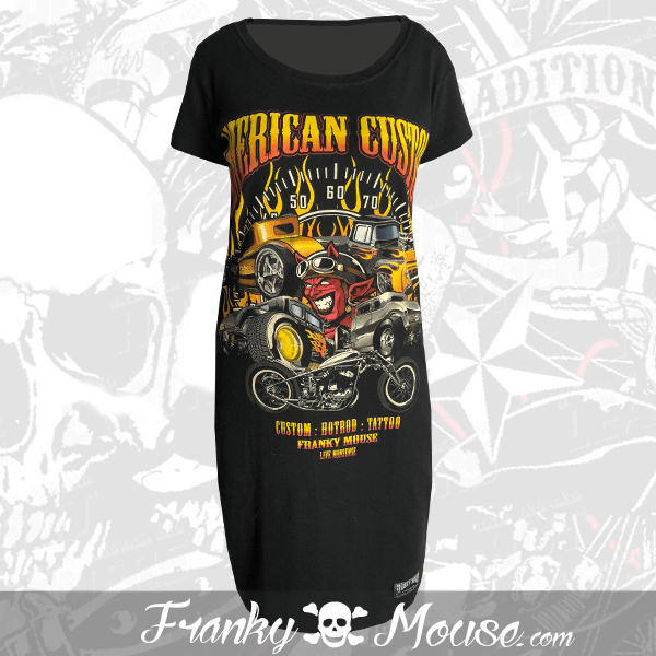 T-Shirt Dress Franky Mouse American Custom