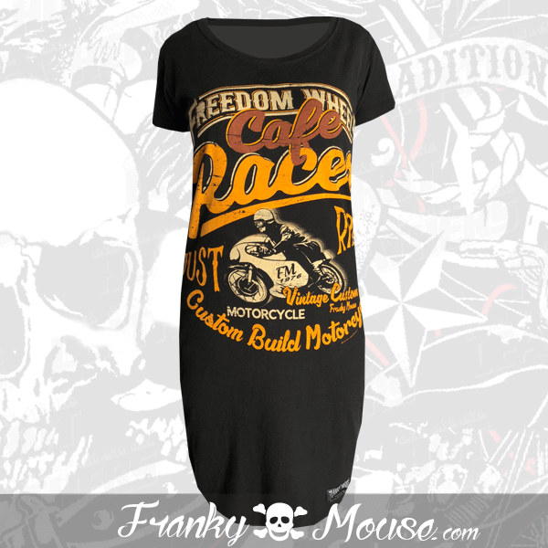 T-Shirt Dress Franky Mouse Freedom Cafe Racer