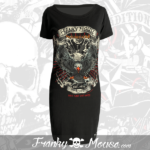 T-Shirt Dress Franky Mouse Live Fast Die Hard