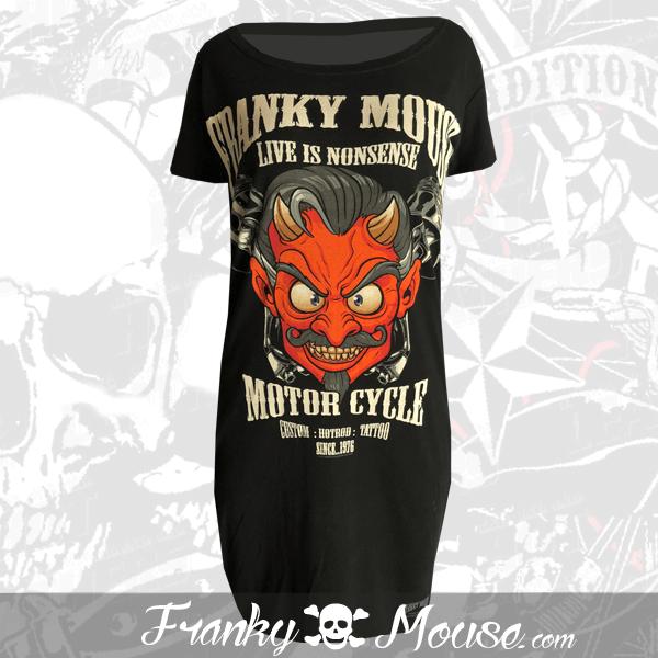 T-Shirt Dress Franky Mouse Custom Hotrod Devil