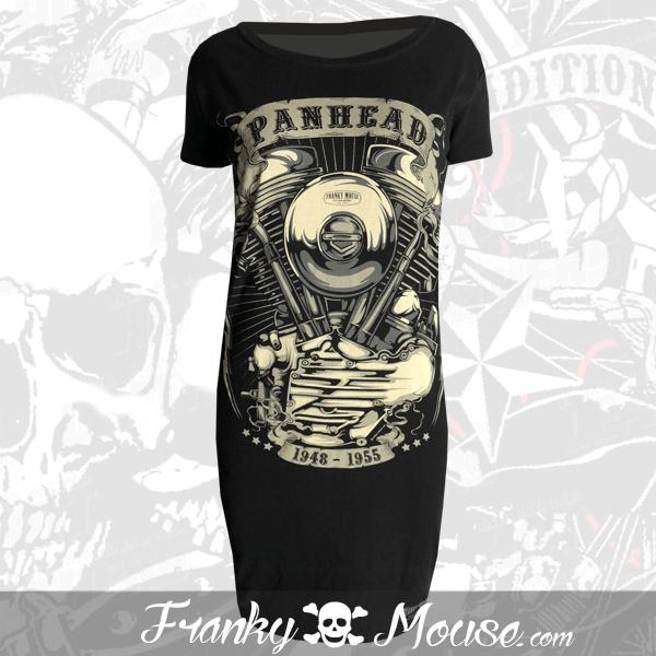 T-Shirt Dress Franky Mouse Pan Head Motor