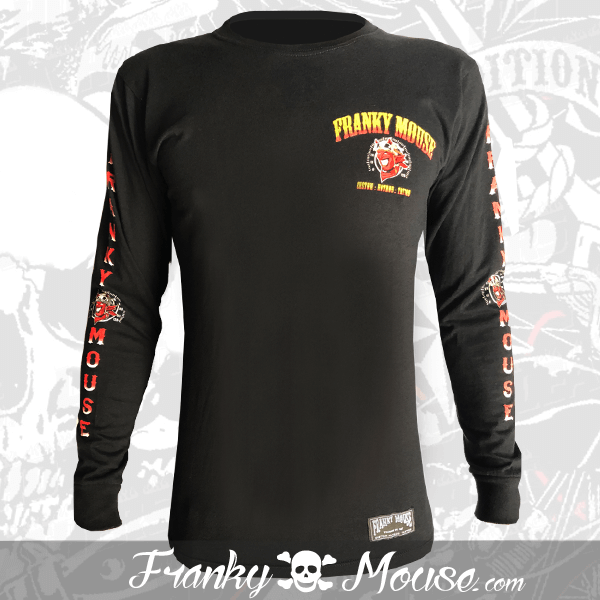 Long Sleeve T-shirt Franky Mouse Devil Hotrod