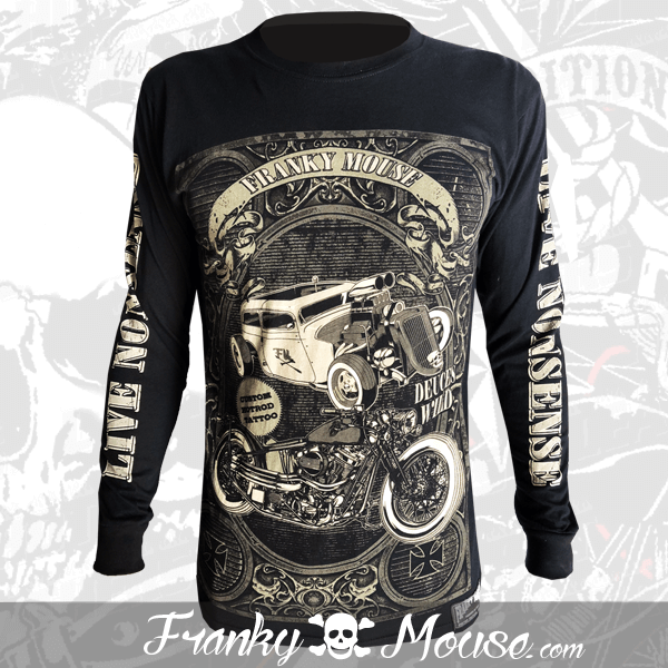 Long Sleeve T-shirt Franky Mouse Custom Tattoo