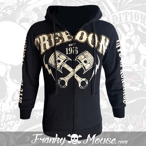 Hoodies Franky Mouse Freedom Outlaw Biker