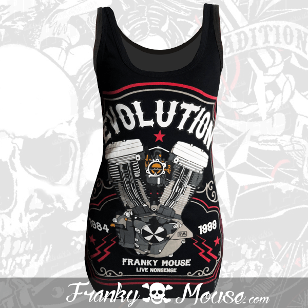 Tank Top For Women Franky Mouse Evolution