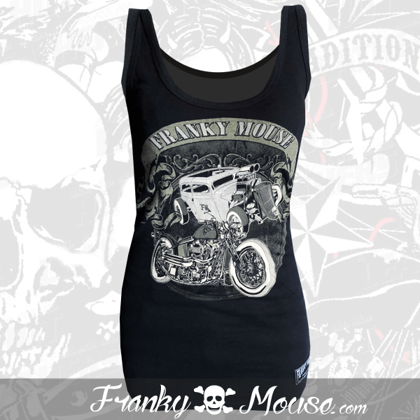 Tank Top For Women Franky Mouse Hotrod Bikers
