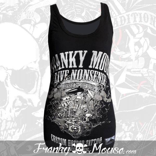 Tank Top For Women Franky Mouse Hotrod Tattoo