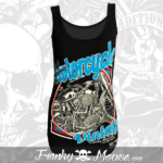 Tank Top For Women Franky Mouse Vintage Motor
