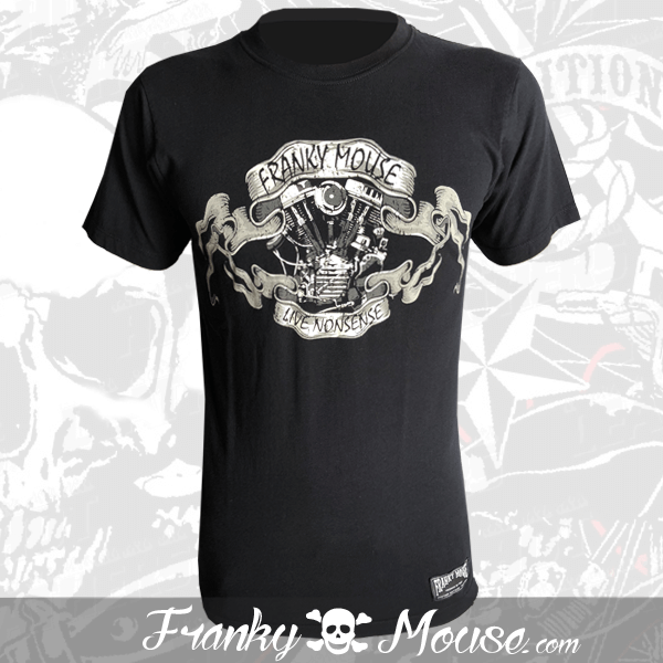 T-Shirt Franky Mouse Live Non Sense Motorcycle