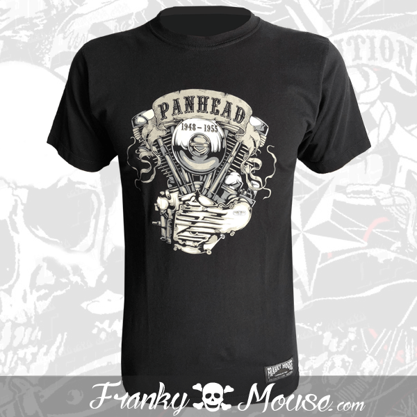 T-Shirt Franky Mouse Panhead Live Fast