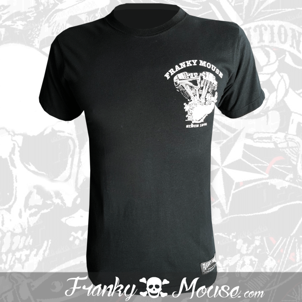 T-Shirt Franky Mouse Custom Hot Road Motor