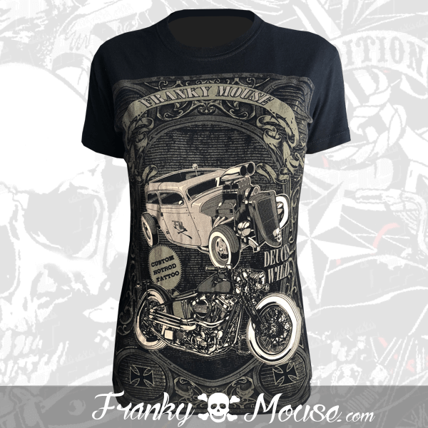 T-shirt For Women Franky Mouse Custom Tattoo