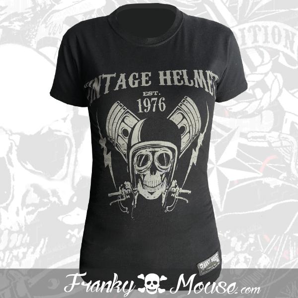 T-shirt For Women Franky Mouse Vintage Helmet