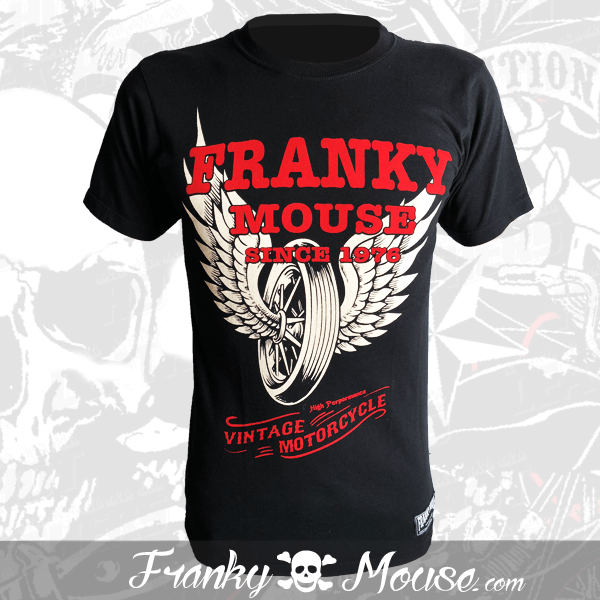 T-Shirt Franky Mouse Custom Style Fast Wheels