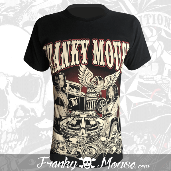 T-Shirt Franky Mouse Angel Tyre Live Is Nonsense