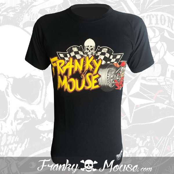 T-Shirt Franky Mouse Live Racing Skulls Garage